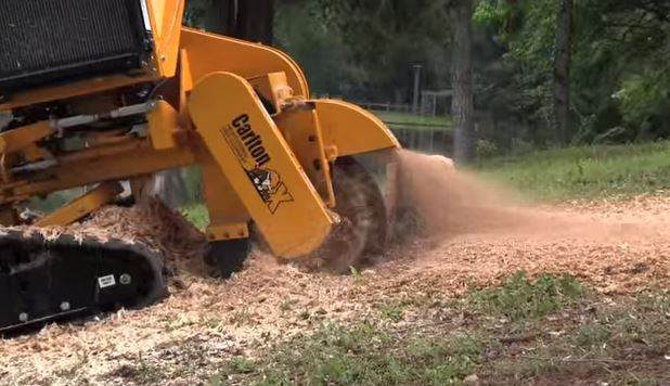 A picture of stump grinding equipment